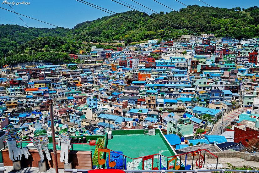 (한국의비경261) 부산 사하구 감천동 감천문화마을(태극도마을)