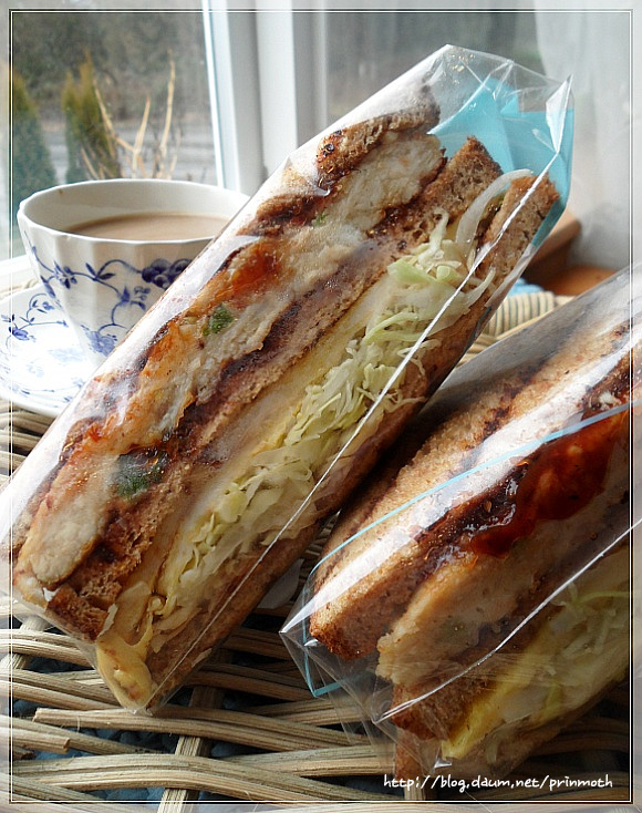 3단 샌드위치 만들기